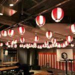 提灯いっぱいの天井で紅白気分になる空間をつくりませんか!